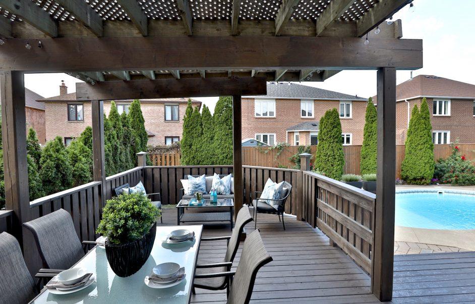 Poolside deck @ markwood lane